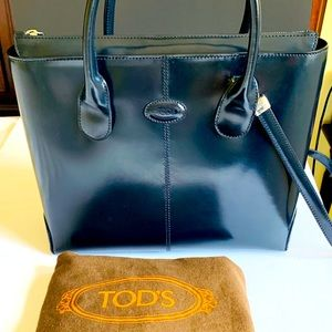 Tod's iconic D-bag tote shoulder bag real leather